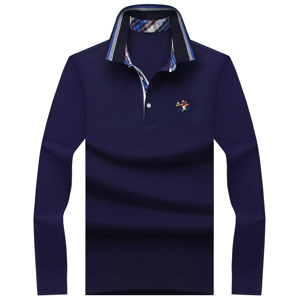 [해외]2017 뉴 클래식 남성 폴로 셔츠 긴 Retail 봄 남성 의류 브랜드 Camisa 폴로 Masculina 플러스 크기 6XL 7XL 8XL 9XL 10XL/2017 New Classic Mens Polo Shirts Long Sleeve Spring Men&