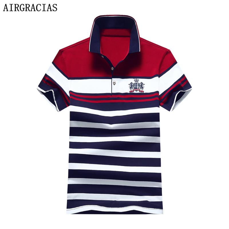 [해외]AIRGRACIAS 2017 뉴 패션 여름 남성 폴로 셔츠 캐주얼 스트라이프 폴로 셔츠 남성 코 튼 셔츠 청소년 남성 Ralphmen 1734/AIRGRACIAS 2017 New Fashion Summer Mens Polo Shirt Casual Striped