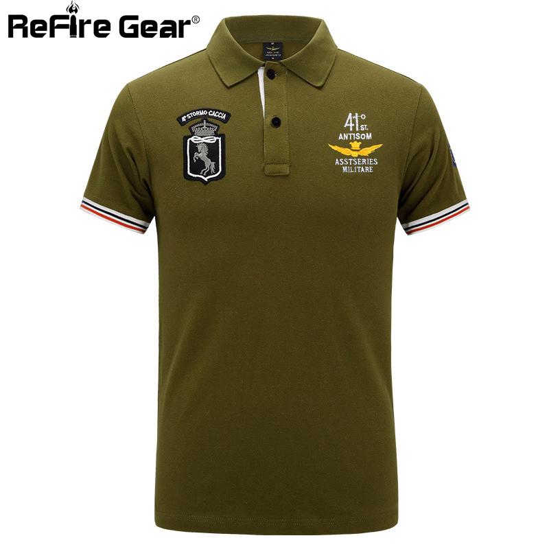 [해외]공군 전술 밀리터리 폴로 셔츠 남성 캐주얼 반팔 군대 남자 셔츠 여름 통기성 자수 솔리드 코튼 셔츠/Air Force Tactical Military Polo Shirt Male Casual Short Sleeve Army Men Shirt Summer Brea