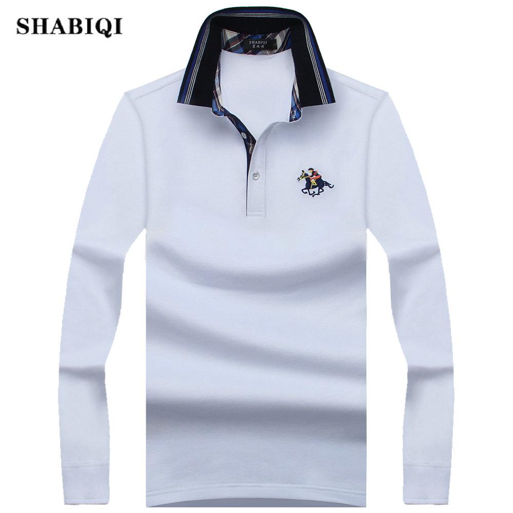 [해외]2017 새로운 패션 남성 폴로 셔츠 긴 Retail 봄 슬림 맞춤 남성 & s의 브랜드 캐미솔 폴로 Masculina 플러스 크기 7XL 8XL 9XL/2017 New Fashion Mens Polo Shirts Long Sleeve Spring sli