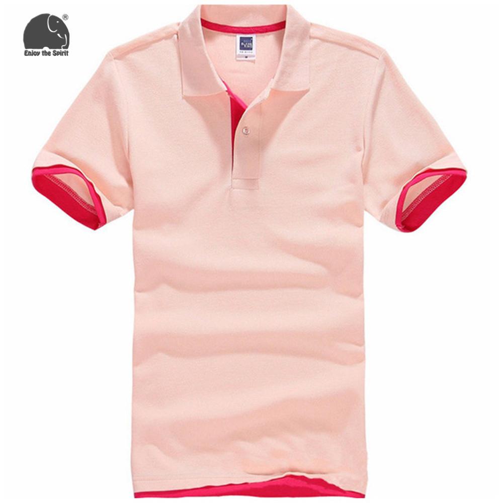 [해외]EnjoytheSpirit 2017 남성 폴로 셔츠 캐주얼 코튼 폴리 에스테르 남성 폴로 셔츠 핑크 단색 폴로 셔츠 남성 폴로 셔츠 새로운 브랜드/EnjoytheSpirit 2017 Men Polo Shirt Casual Cotton Polyester Men P