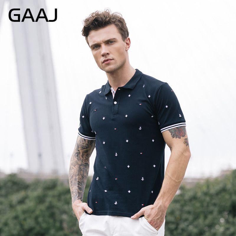 [해외]GAAJ Mens 97 % 코튼 폴로 셔츠 자수 네이비 그레이 화이트 플러스 사이즈 S M L 4XL 브랜드 의류 남성용 & 반Retail 0NJNB/GAAJ Mens 97% Cotton Polo Shirts Embroidery Navy Grey Whit