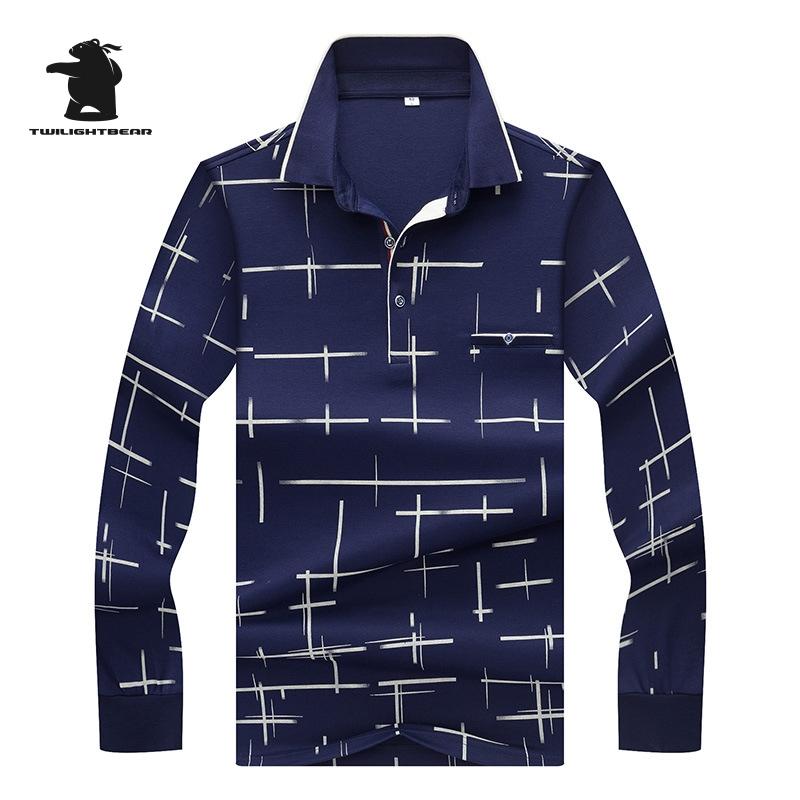 [해외]2017 새로운 남성 & s 얼음 실크 폴로 셔츠 가을 패션 스트라이프 플러스 크기 사업 인과 폴로 셔츠 남성 긴 Retail M3XL CB17E8826/2017 New men&s Ice Silk Polo Shirts Autumn Fashion Strip