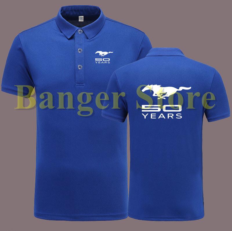 [해외]남자와 여자 MUSTANG 포드 자동차 로고 POLO 셔츠 반팔 작업 바지/Women and men&s MUSTANG ford car logo POLO shirt short sleeve overalls work clothes
