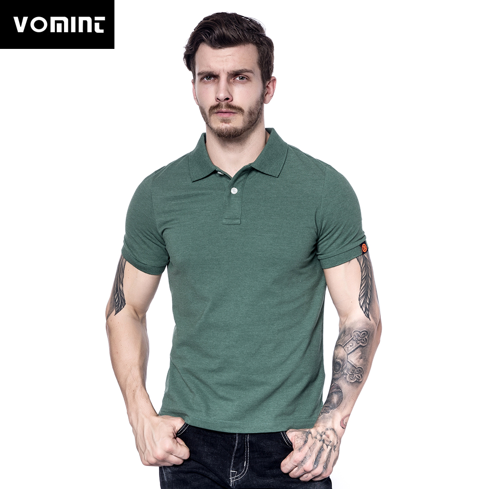 [해외]Vomint 2018 여름 뉴 남성 코 튼 폴로 셔츠 반팔 단색 남성 패션 폴로 셔츠에 대 한 간단한 셔츠 M-3XL BP061/Vomint 2018 Summer New Mens Cotton Polo shirts Short Sleeve Solid Color Si