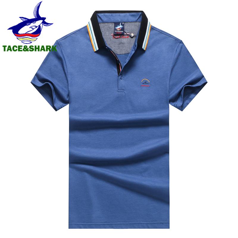 [해외]TACE & SHARK 브랜드 의류 신사복 폴로 셔츠 남성 비즈니스 & amp; 캐주얼 단색 남성 폴로 셔츠 상어 통기성 폴로 셔츠/TACE&SHARK Brand Clothing New Men Polo Shirt Men Business &a