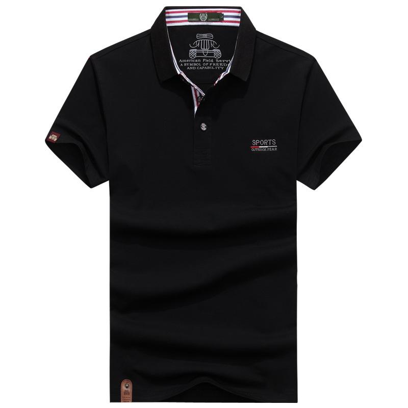 [해외]AFS JEEP 2018 여름 100 % 코튼 남성 폴로 남성 캐주얼 탑 성인 스탠드 칼라 티셔츠 통기성 폴로 셔츠 의류 플러스 사이즈 3XL/AFS JEEP 2018 Summer 100% Cotton Men Polo Male Casual Tops Adult S