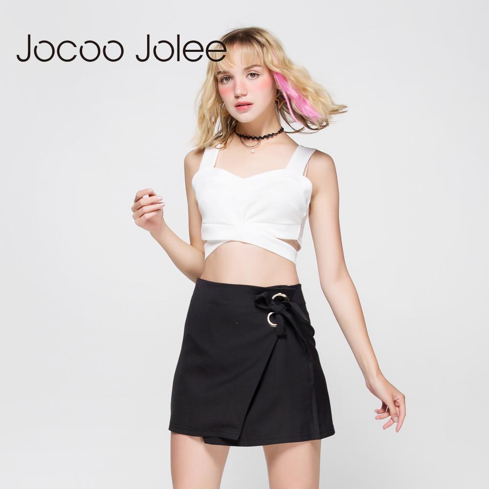 [해외]Jocoo Jolee 여름 섹시한 Bustier 작물 탑 여성 패션 짧은 속이 빈 섹시한 신사 숙녀 조끼 여성 붕대 홀터 탱크 탑스/Jocoo Jolee Summer Sexy Bustier Crop Tops Women Fashion Short Hollow Out