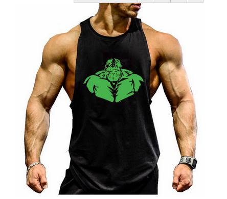 [해외]Muscleguys 브랜드 체육관 의류 보디 빌딩 스트링거 탱크 맨 남성 휘트니스 조끼 인쇄 헐룩 목화 중독/Muscleguys Brand gyms clothing bodybuilding stringer tank top men fitness vest print