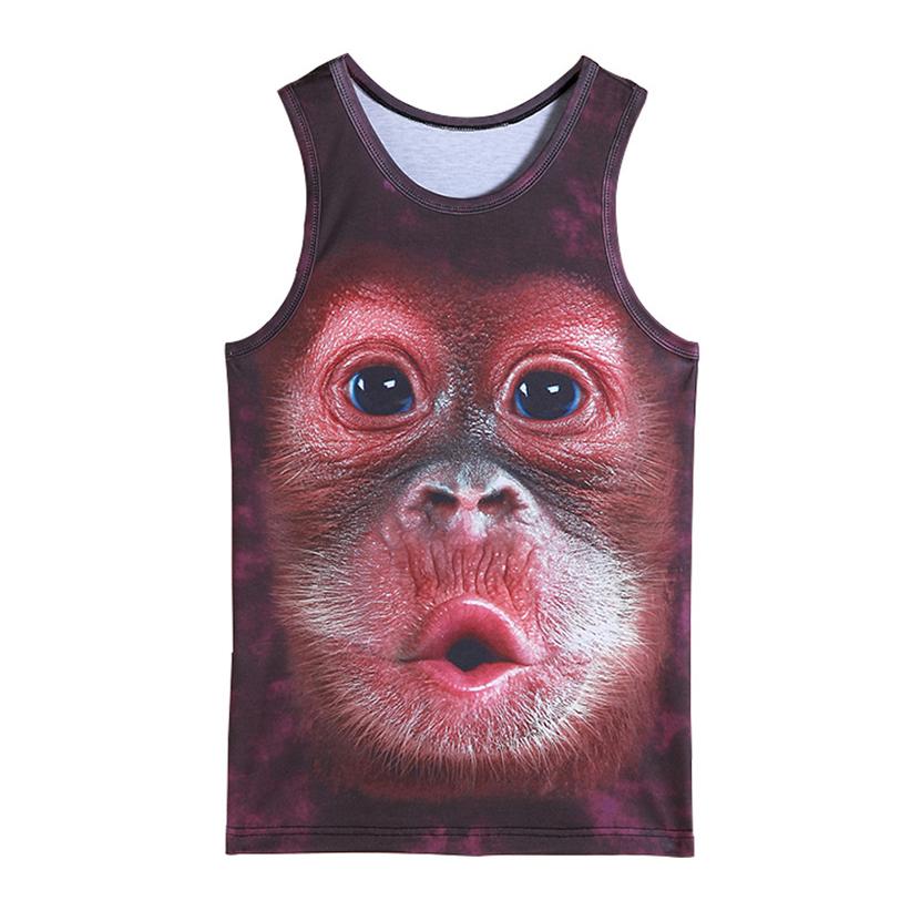 [해외]mens 동물 고릴라 원숭이는 3D 탱크 탑스 운동을 인쇄했다 소년을민Retail 정상은 보디 빌딩 의류 운동 undershirt 조끼를 꼭대기에 오른다/mens animal gorilla monkey printed 3D Tank Tops Exercise Sle