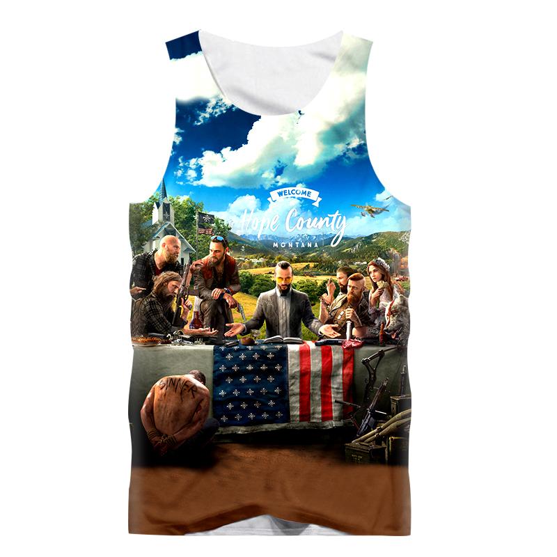 [해외]패션 섹시한 탱크 탑 남자 민Retail 조끼 티셔츠 재미 있은 게임 Far Cry 5 3D 프린트 휘트니스 T 셔츠 근육 보디 빌딩 Tanktop/Fashion Sexy Tank Tops Men Sleeveless Vest T-Shirt Funny Game F