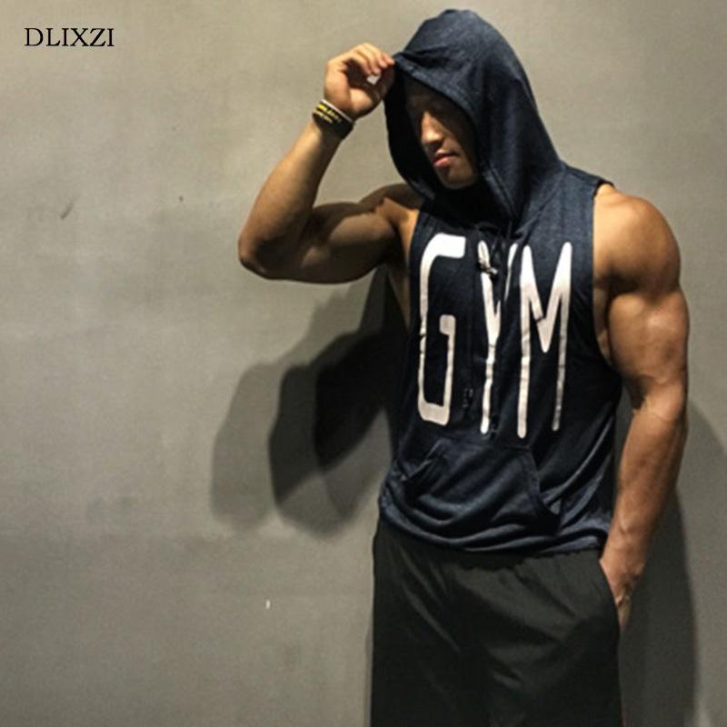 [해외]DLIXZI 까마귀 탱크 탑 휘트니스 의류 남성용 보디 빌딩 민Retail 근육 셔츠 체육관 운동 용 싱글 솜 코튼 여름 탑/DLIXZI  Hoodie Tank Top Fitness Clothing Men Bodybuilding Sleeveless Muscle