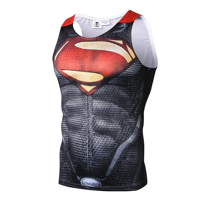 [해외]FOLUOLUNDIYA 브랜드 남자 의상 탱크 탑 슈퍼맨 티셔츠 민Retail 조끼 남성 & 슬림 탄성 T- 셔츠 남성 & 탱크 탑/FOLUOLUNDIYA brand men Costume Tank Tops superman Tees Shirt Sle