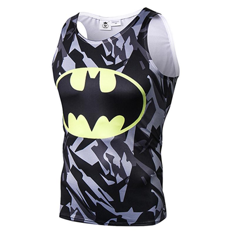 [해외]새 브랜드 3D 인쇄 슈퍼 히어로 영화 탱크 탑 남성 / 여성 패션 남성 탱크 탑스 압축 피트니스 저지 Retail 여름 조끼/New brand 3D Print Superhero Movie Tank Top Men/Women Fashion Mens Tank Top