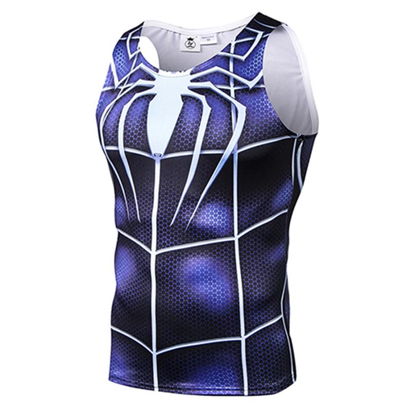 [해외]3D 인쇄 스파이더 맨 슈퍼 히어로 영화 탱크 탑 남성 / 여성 민Retail 조끼 맞는 하이틴 압축 조끼 헬스 탱크 탑 의류 남성/3D Print Spider-man Superhero Movie Tank Top Men/Women Sleeveless vest F