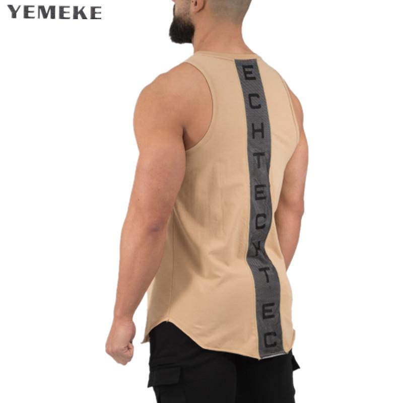 [해외]YEMEKE Golds gyms 브랜드 singlet canotte 보디 빌딩 스트링거 탱크 탑 남성 피트니스 T 셔츠 근육 녀 민Retail 조끼 탱크 탑/YEMEKE Golds gyms Brand singlet canotte bodybuilding strin