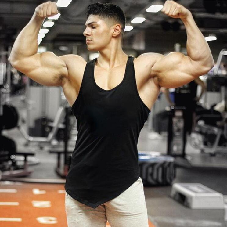 [해외]2018 새로운 브랜드 조끼 단단한 보디 빌딩 의류 및 피트니스 남성 땀 받이 체육관 스트링거 탱크 탑스 골드 남성 Sportwear 셔츠/2018 New Brand vest Solid bodybuilding clothing and fitness men unde
