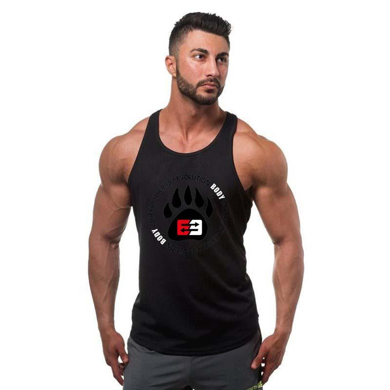 [해외]?망 보디 빌딩 탱크 탑 체육관 착용 남성 탑 탱크 남성 체육관 피트니스 싱글 조끼 언더 셔츠 크로스 보이 보이 브랜드 의류/ Mens Bodybuilding Tank Tops gyms wear men top tank  male Gyms Fitness Singl