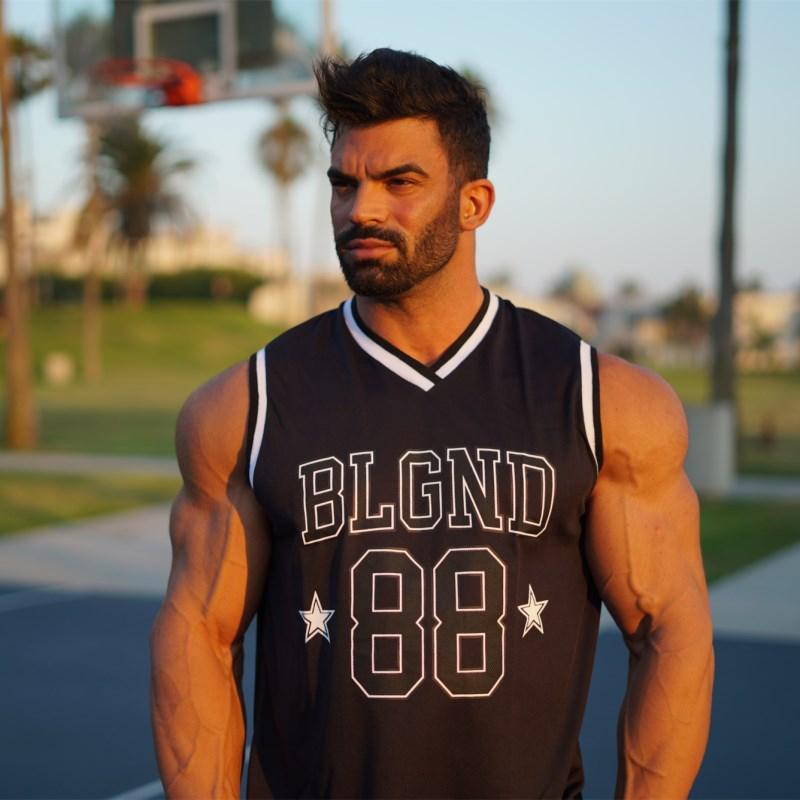 [해외]2018 남자 보디 빌딩 탱크 톱 넘버 프린트 체육관 조끼 여름 여름 멋진 통기성 민Retail tshirt Crossfit Workout Clothing/2018 Men Bodybuilding Tank top Number Print Gyms Fitness Ve