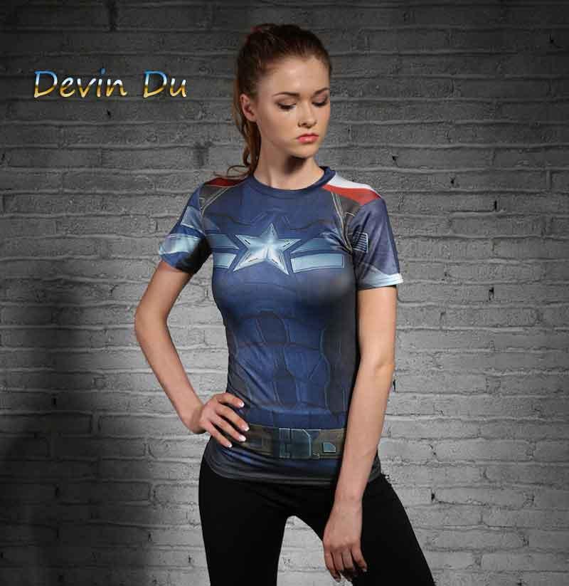 [해외]여성 T- 셔츠 BODYS 배트맨 / 슈퍼맨 캡틴 아메리카 압축 소녀 의류 티셔츠 티셔츠/WOMEN T-SHIRT BODYS BATMAN /SUPERMAN CAPTAIN AMERICA COMPRESSION GIRL CLOTHING FITNESS TIGHTS T