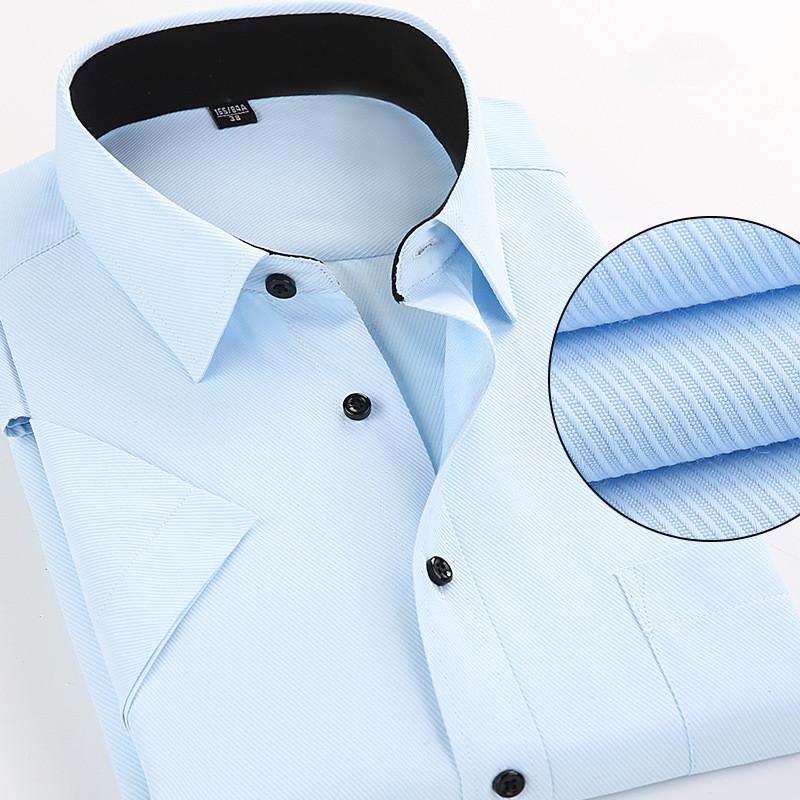 [해외]남자 & 반팔 셔츠 캐쥬얼 고품질 여름 솔리드 컬러 Formals 남자 셔츠 용 드레스 셔츠 슬림 피트 플러스 사이즈 M-4XL/Men&s Short Sleeve Shirts Casual high quality Summer Solid Color Forma