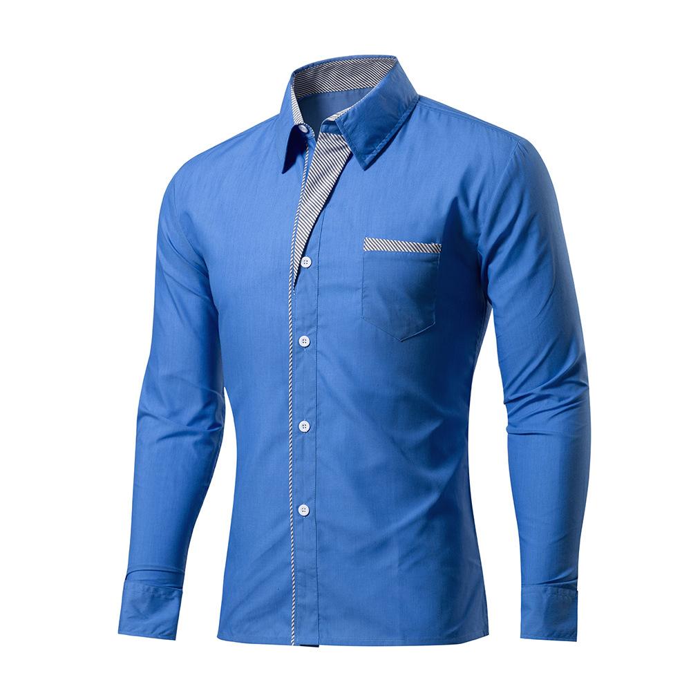 [해외]2017 새로운 패션 브랜드 Camisa Masculina 긴 Retail 셔츠 남자 한국 슬림 디자인 공식적인 캐주얼 남자 드레스 셔츠 사이즈 M-4XL 6012/2017 New Fashion Brand Camisa Masculina Long Sleeve Sh