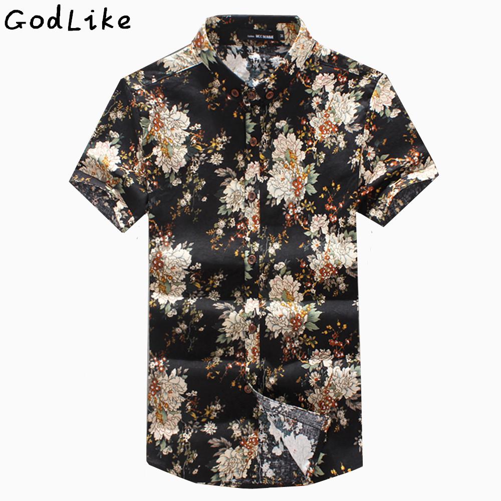 [해외]리넨 반Retail 캐주얼 셔츠 남성용 통풍 통풍 여름 남성 무늬 셔츠 린넨 camisa masculina 망 꽃 셔츠/Linen Short sleeve Casual shirt Male easygoing breathable summer Man Pattern sh