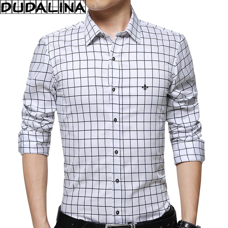 [해외]DUDALINA 100 % 커튼 남성 긴 Retail 격자 무늬 셔츠 남자 의류 슬림 맞는 캐주얼 남자 사회 셔츠  E52205/DUDALINA 100% Cotton Men Long Sleeve Plaid Shirt Men Clothes Slim Fit Casu