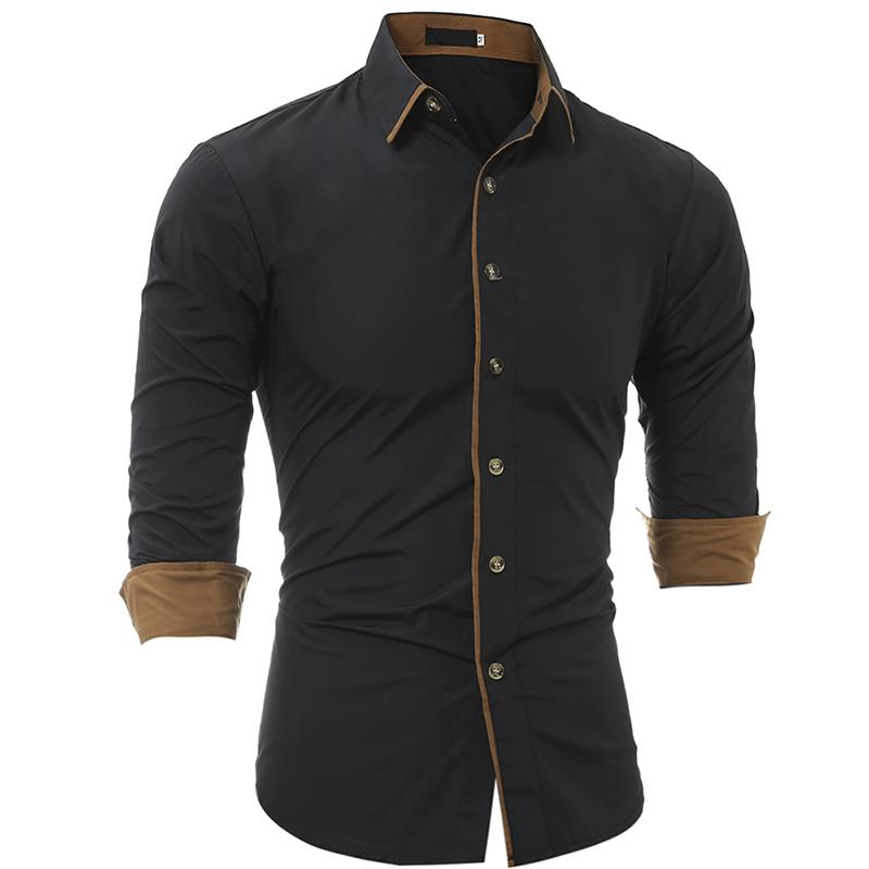 [해외]2018 새로운 패션 남자 옷 슬림 맞는 남자 긴 Retail 셔츠 남자 클래식 성격 캐주얼 옷깃 남자 & 셔츠 청소년 유행 XXL/2018 New Fashion Men Clothes Slim Fit Men Long Sleeve Shirt Men Clas