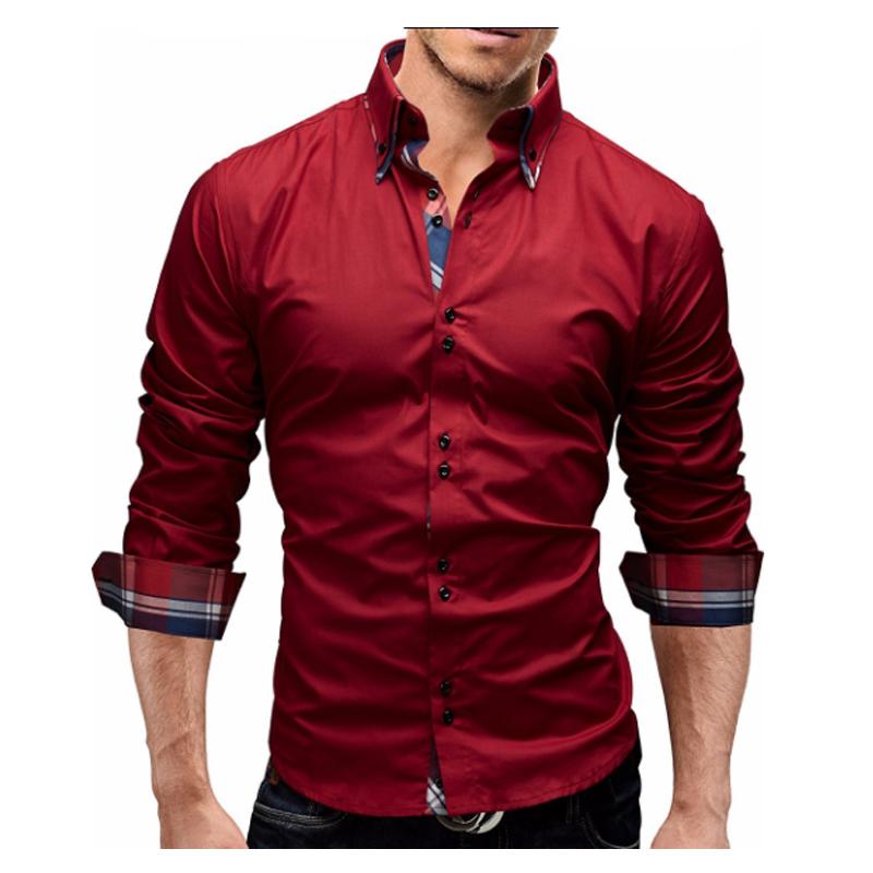 [해외]남성 셔츠 2018 봄 새로운 브랜드 비즈니스 남성 & S 슬림 피트 복장 셔츠 남성 긴 Retail 캐주얼 셔츠 Camisa Masculina 크기 M-3XL/Men Shirt 2018 Spring New Brand Business Men&S Slim