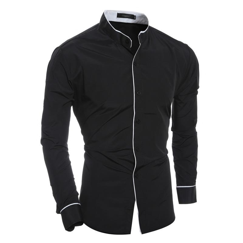 [해외]남성 셔츠 2018 봄 새로운 브랜드 맞는 솔리드 컬러 셔츠 남성 긴팔 캐주얼 셔츠 Camisa Masculina XXL/Men Shirt 2018 Spring New Brand  Fit Solid color Shirt Male Long Sleeves Casua