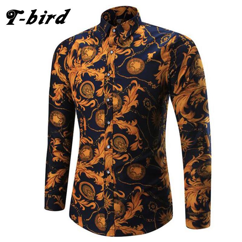 [해외]T 조류 2018 여름 셔츠 남성 격자 무늬 긴 Retail 셔츠 남성 및 S 드레스 셔츠 Camisa Masculina 남성 패션 브랜드 슬림 피트 셔츠 5XL/T bird 2018 Summer Shirt Men Plaid Long Sleeves Shirts