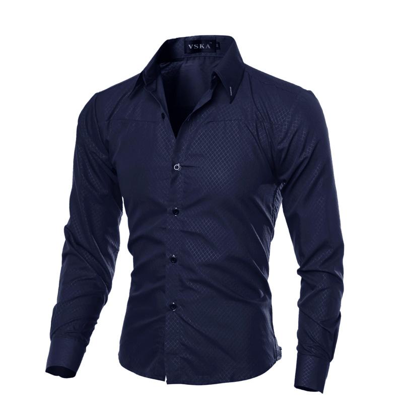 [해외]John & s Bakery Men Shirt 브랜드 2018 남성 대형 긴 Retail 셔츠 캐주얼 체크 무늬 슬림 맞는 블랙 남성 옷깃 드레스 셔츠 M-5XL/John&s Bakery Men Shirt Brand 2018 Male Large Size