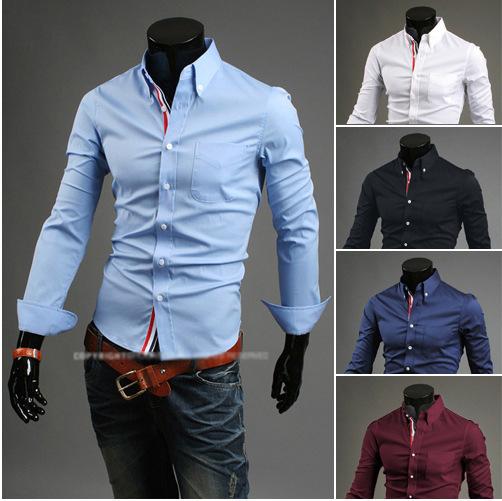 [해외]?M-XXXL 슬림 핫 세일 세련된 드레스 긴 Retail 셔츠에 맞게 남자의 셔츠 플러스 크기/ men&s shirts plus size M-XXXL New Arrival Slim fit stylish Dress long Sleeve Shirts hot sel
