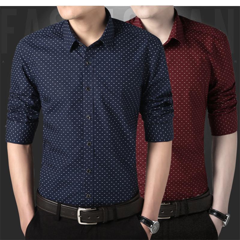 [해외]도트 한국 남성 패션 드레스 셔츠 2017 대형 의류 패션 여름 비즈니스 셔츠 3 색/Dot Korean Men Fashion Dress Shirt  2017 Oversize Clothing Fashion Summer Business Shirts 3 Colors