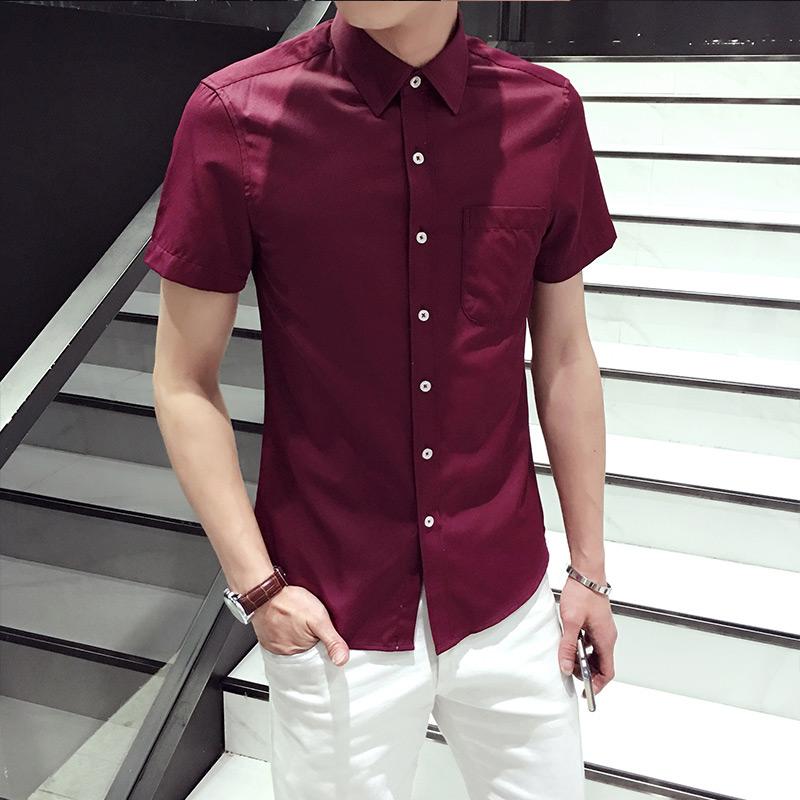 [해외]toturn 브랜드 망 셔츠 플러스 크기 5XL 6XL 면화 고급 남성 의류 패션 공식적인 캐주얼 레드 와인 남성 & s의 반Retail 셔츠/toturn brand mens shirts plus size 5XL 6XL cotton luxury male