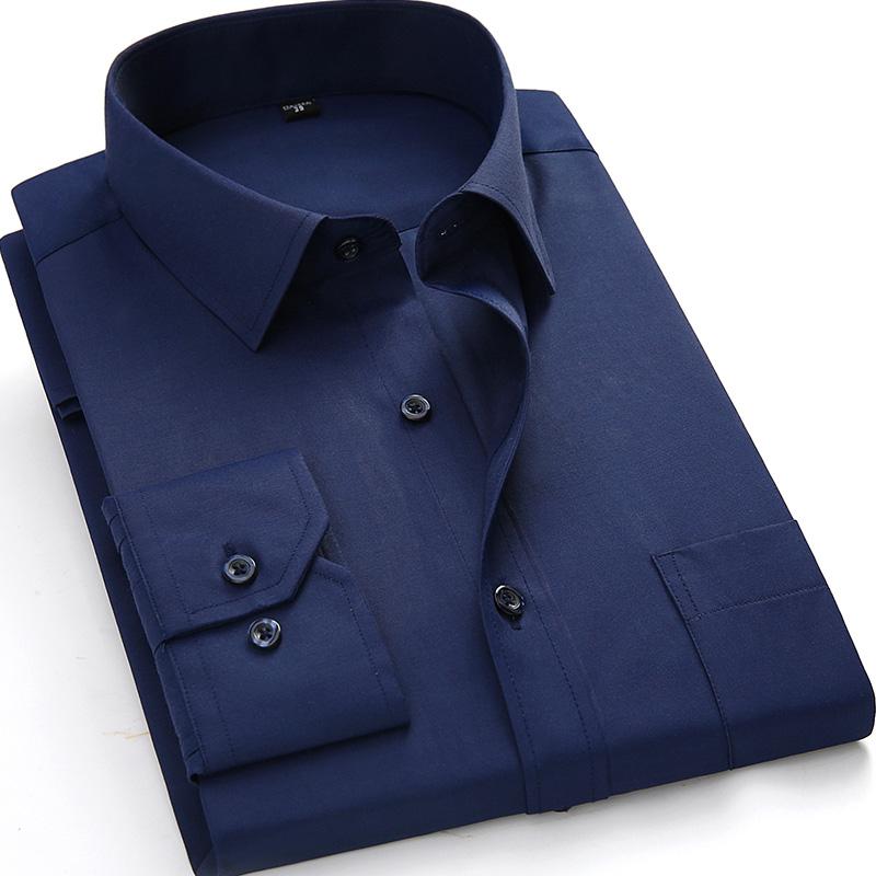 [해외]플러스 사이즈 4XL 5XL 6XL 7XL 8XL 남성 드레스 셔츠 긴 Retail 단색 흰색 남자 비즈니스 정장 작업 셔츠 남성 캐주얼 탑스/Plus Size 4XL 5XL 6XL 7XL 8XL Men Dress Shirts Long Sleeve Solid W