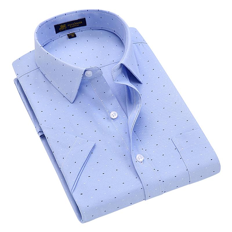 [해외]여름 2017 남성용 반팔 옥스포드 프린트 셔츠 프론트 포켓 레귤러 피트 드레스 셔츠 고품질 남성 공장 직판 의류/Summer 2017 Men&s Short Sleeve Oxford Print Shirt Front Pocket Regular-fit Dress S