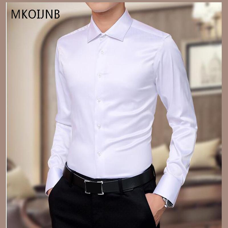 [해외]5XL 새 남성 & 럭셔리 셔츠 웨딩 파티 드레스 긴 Retail 셔츠 실크 턱시도 셔츠 남자 Mercerized면 셔츠 Hot/5XL New Men&s Luxury Shirts Wedding Party Dress Long Sleeve Shirt Silk