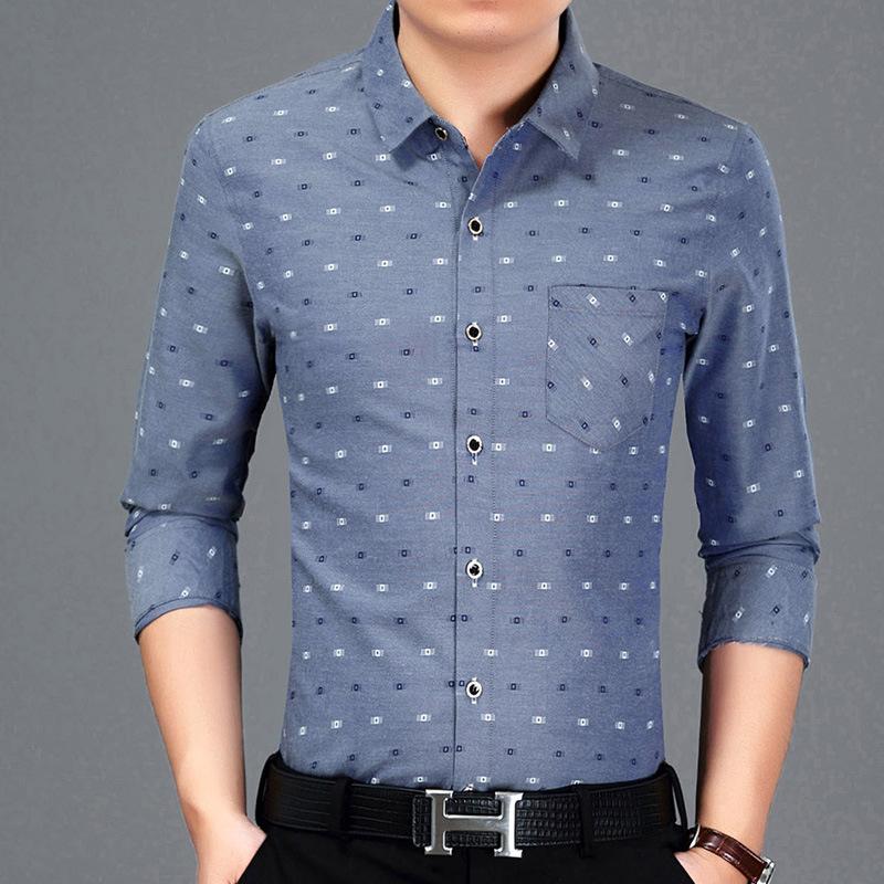 [해외]Jbersee Camisa 소셜 슬림 피트 남성 셔츠 코튼 패션 긴 Retail 망 드레스 셔츠 비즈니스 캐주얼 남성 & 셔츠/Jbersee Camisa Social Slim Fit Men Shirt Cotton Fashion  Long Sleeve Me
