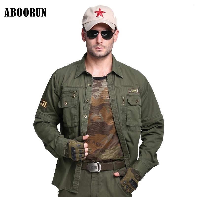 [해외]ABOORUN 2017 Mens Shirts 군용 퓨어 코튼 카고 셔츠 캐주얼 롱 슬리브 셔츠 육군 녹색 남성 W2228/ABOORUN 2017 Mens Shirts Military Pure Cotton Cargo Shirts Casual Long Sleeve