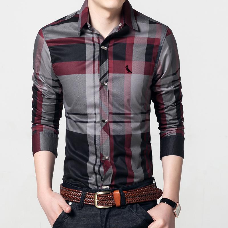 [해외]DUDALINA 남성 & 격자 무늬 줄무늬 셔츠 긴 Retail 슬림 피트 캐주얼 비즈니스 드레스 셔츠 예약 자수면 셔츠/DUDALINA Men&s Plaid Striped Shirt Long Sleeve Slim Fit Casual Business Dr