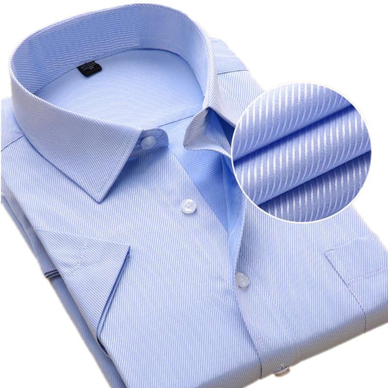 [해외]남자 S-8XL 플러스 사이즈 코 튼 반Retail 복장 셔츠 솔리드 남자 & s 셔츠 캐주얼 남자 착용 셔츠 남자 슬림 남자 셔츠/Men S-8XL Plus Size cotton short Sleeve Dress Shirts Solid Men&s Shi