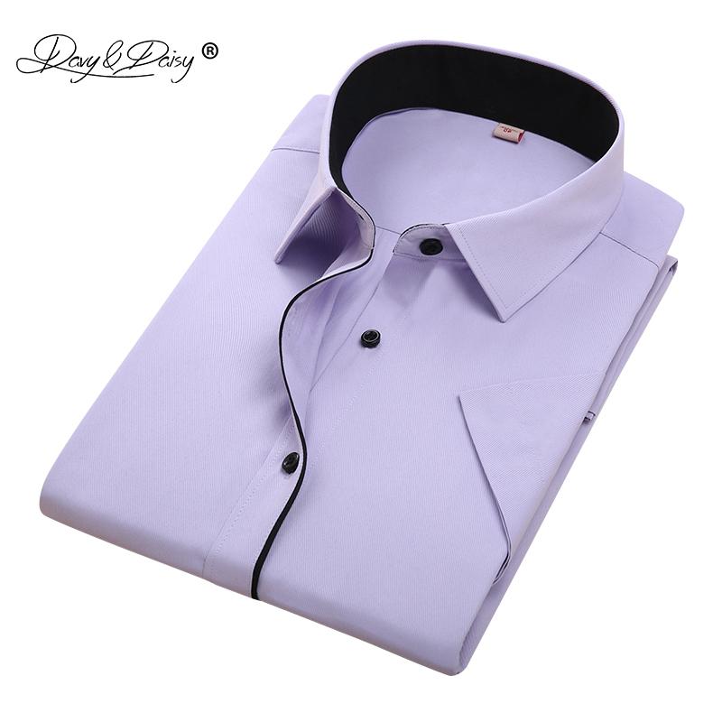 [해외]DAVYDAISY 뉴 여름 남성 셔츠 반팔 패션 단색 남성 셔츠 브랜드 의류 공식적인 사업 흰색 셔츠 남자 DS187/DAVYDAISY New Summer Men Shirt Short Sleeved Fashion Solid Male Shirts Brand Clo
