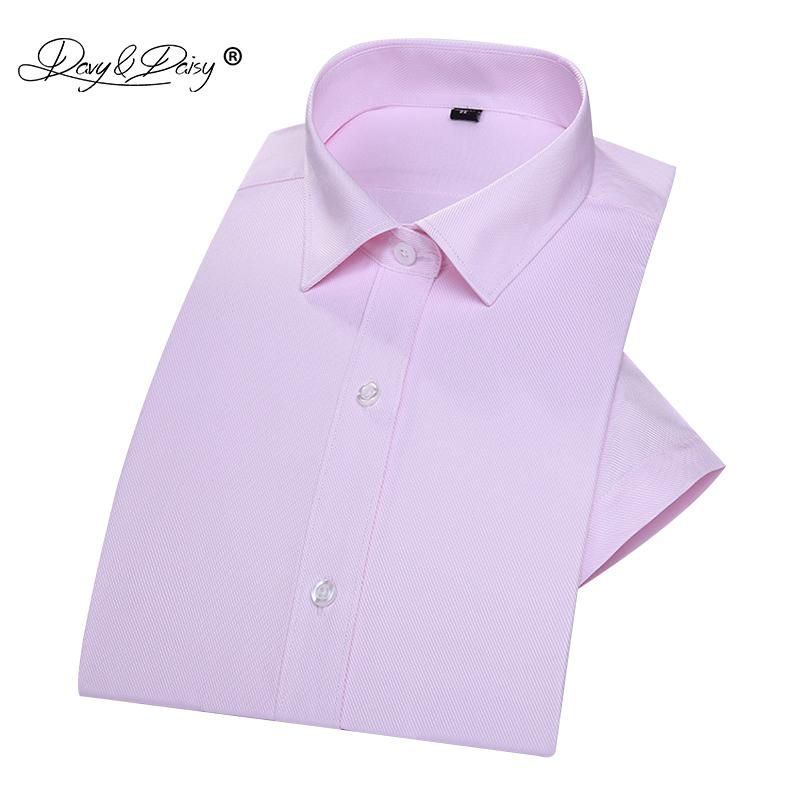 [해외]DAVYDAISY 새로운 100 % 코튼 여름 남성 & s 셔츠 반팔 남성 단색 능 직물 드레스 셔츠 남자 슬림 맞는 셔츠 DS203/DAVYDAISY New 100% Cotton  Summer Men&s Shirt Short Sleeved Male So