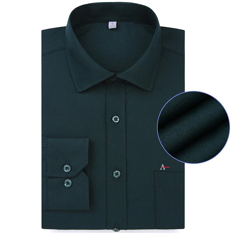 [해외]ALEATORY 2018 새 스타일 Aramy Brand Men Shirt 솔리드 드레스 셔츠 코튼 캐주얼 긴팔 자수 Camiseta Masculina/ALEATORY 2018 New Style Aramy Brand Men Shirt Solid Dress Shi