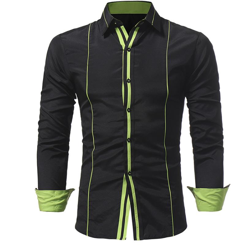 [해외]Men Shirt 2018 봄 새 브랜드 비즈니스 남성 & 슬림 피트 복장 셔츠 남성 긴 Retail 캐주얼 셔츠 camisa masculina 크기 M-3XL/Men Shirt 2018 Spring New Brand Business Men&s Slim