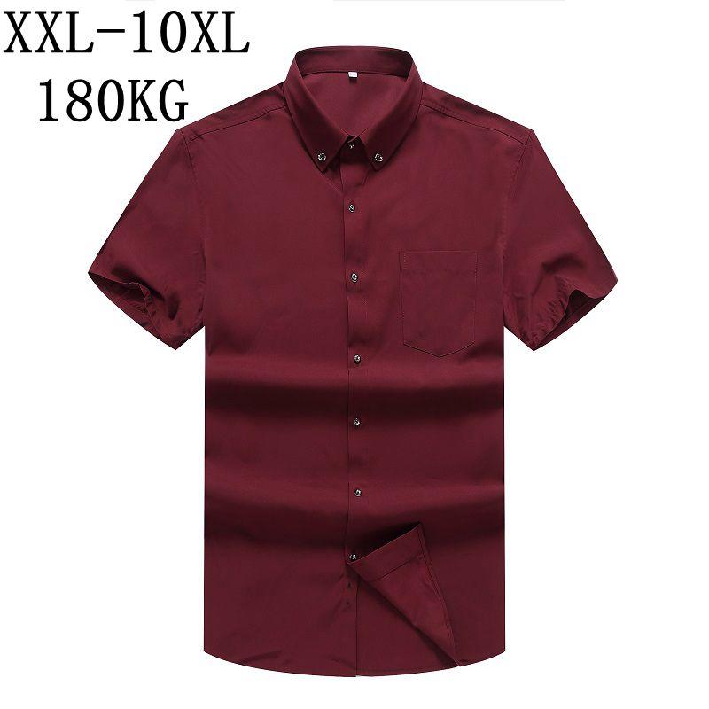 [해외]10XL 8XL 7XL 뉴 여름 2018 퓨어 컬러 남성 복장 셔츠 반팔 클래식 블랙 워크웨어 브랜드 비즈니스 남성 캐주얼 셔츠/10XL 8XL 7XL New Summer 2018 Pure Color Men Dress Shirt Short Sleeve Class