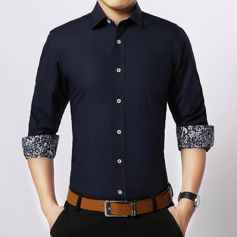 [해외]2017 봄 남성 셔츠 긴 Retail 면화 슬림 맞는 패치 워크 남성 셔츠 흰색 진한 파란색 드레스 셔츠 Camisa Social Masculina CS06/2017 spring Men Shirt Long Sleeve Cotton Slim Fit Patchwo