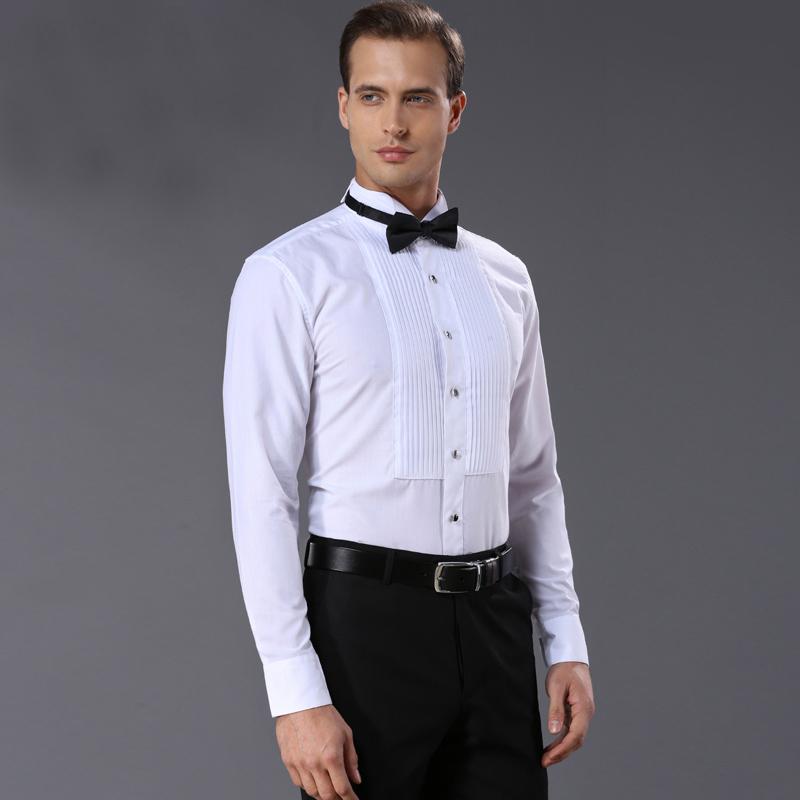 [해외]프랑스 스타일 망 셔츠 품질 패션 백인 남자 드레스 셔츠 턱시도 결혼식 세차 및 의류 셔츠 남성 완료 결혼/french style Mens Shirts quality Fashion white Men dress shirt Tuxedo Clothing wash an